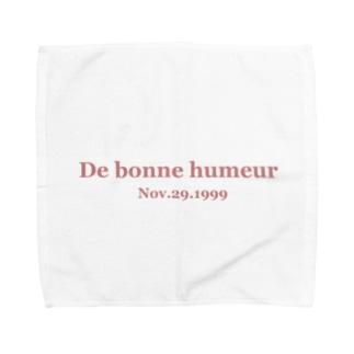 桃の花言葉は気立ての良さ Towel handkerchiefs
