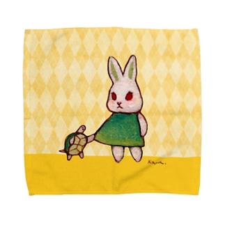 山の麓での話 Towel handkerchiefs