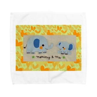 ゾウさんファミリー Towel handkerchiefs