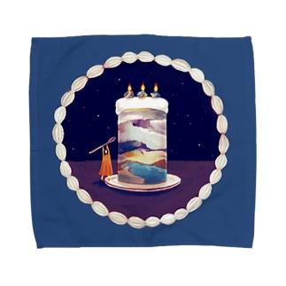 宇宙ケーキのハンカチーフ Towel handkerchiefs