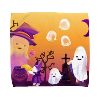 みんなでハロウィン Towel handkerchiefs