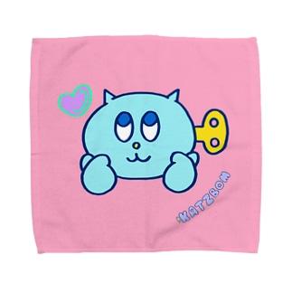 ネジネコ(ラブサイン) Towel handkerchiefs