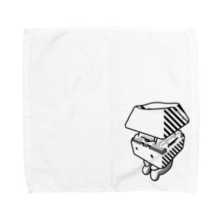 お座りキーキャッピー モノトーン Towel handkerchiefs