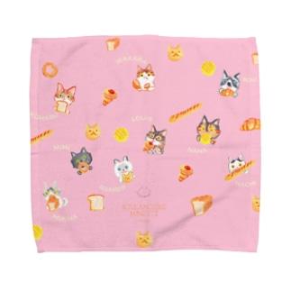 BoulangerieMinette:お客ニャンB名前入り Towel handkerchiefs