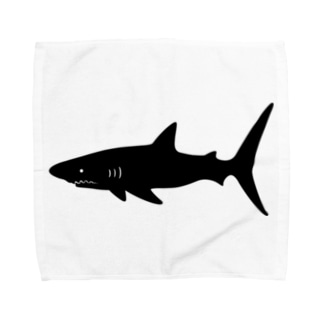 Cɐkeccooのらくがきシリーズ‐サメシルエット Towel handkerchiefs