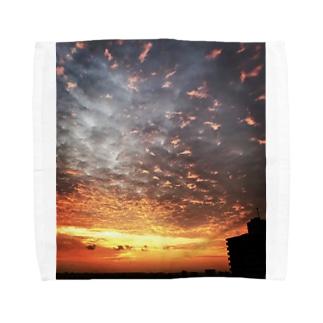 サンライズ、サンセット、朝焼け、夕焼け Towel handkerchiefs