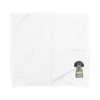 おかっぱの女の子 ひとみちゃん Towel handkerchiefs