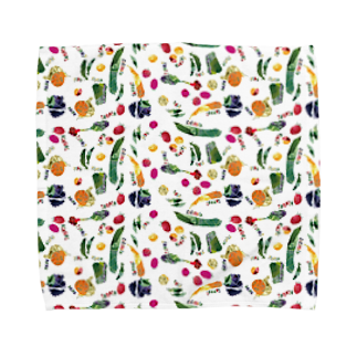 mya-mya=MIYA JUNKO's shop 02のColorful Vegetables Towel handkerchiefs