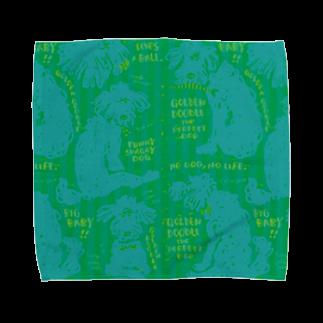 mya-mya=MIYA JUNKO's shop 02のGolden Doodle is the Perfect Dog Towel handkerchiefs