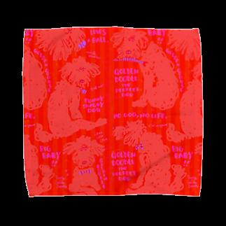 mya-mya=MIYA JUNKO's shop 02のGolden Doodle is the Perfect  Towel handkerchiefs