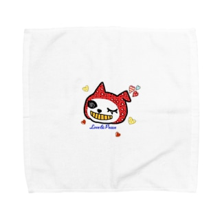 LovePeaceねこかぶりちゃん Towel handkerchiefs