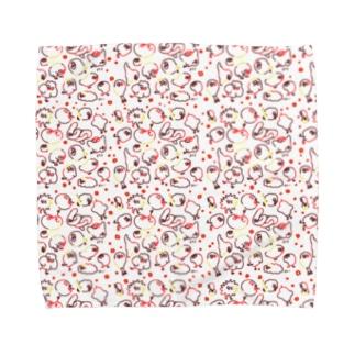 沢山ちょぴ  鳥さんみたいなイキモノ Towel handkerchiefs