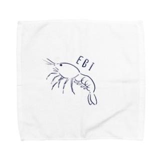 エビ、えび、海老、shrimp Towel handkerchiefs