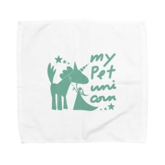 ペット*ユニコーン Towel handkerchiefs