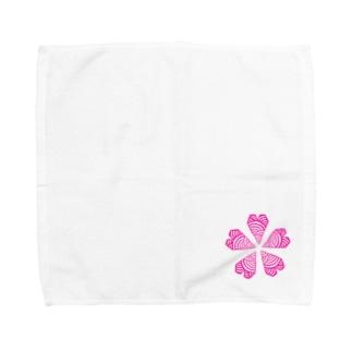 君恋いわて さくらステッカー Towel handkerchiefs