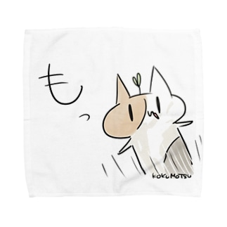 とびだすこくもつねこ Towel handkerchiefs