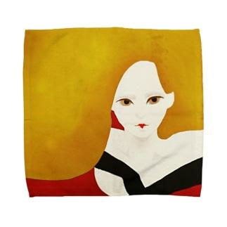 冬のモダンガール Towel handkerchiefs