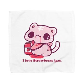 I love Strawberry jam. Towel handkerchiefs