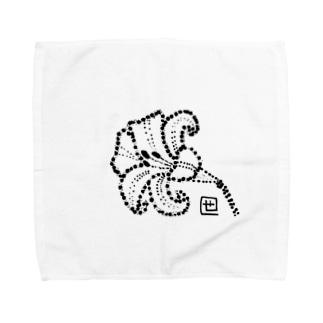 百合の花 Towel handkerchiefs