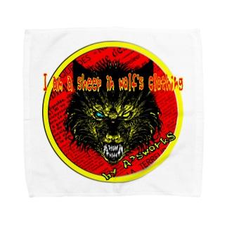 狼の皮を被った羊 Towel handkerchiefs