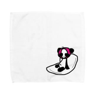 ナプキンに乗るぱんこちゃん Towel handkerchiefs
