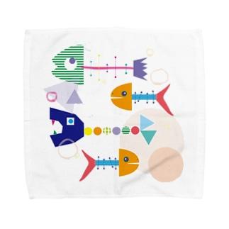 カラフルボーン Towel handkerchiefs