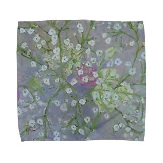 かすみ草 Towel handkerchiefs