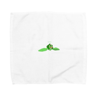 ウミガメアカミミガメ 遊泳 Towel handkerchiefs