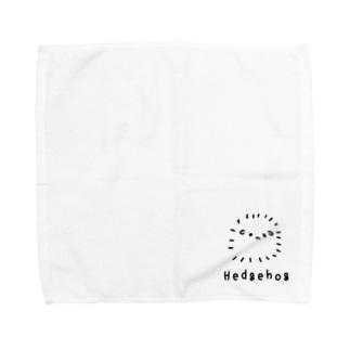 無色のハリネズミ Towel handkerchiefs