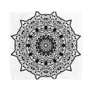 曼荼羅乃型一 Towel handkerchiefs