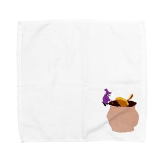 ホットワインの仕込み Towel handkerchiefs