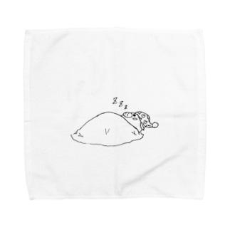 寝る子はそだ・・・つ? Towel handkerchiefs