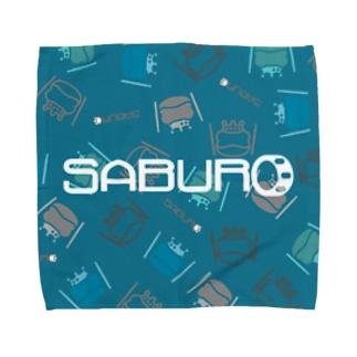 カエル ドラム ロゴonちりばめられたサブロー Towel handkerchiefs