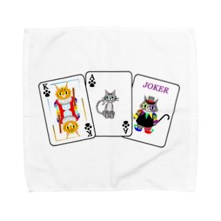 Yokokkoの店のCats × Cards Towel handkerchiefs