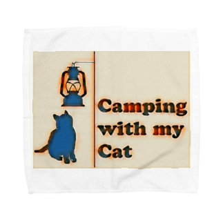 Camping with my Cat Towel handkerchiefs