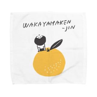 行くぜ!都道府県Tシャツの和歌山県人 Towel handkerchiefs