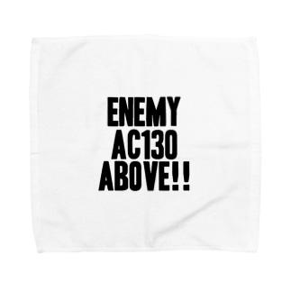 Enemy AC130 Above!!(white) タオルハンカチ