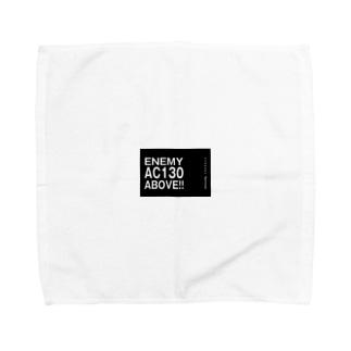 Enemy AC130 Above!!(Black) Towel handkerchiefs