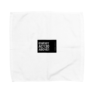EAA!! OfficialStoreのEnemy AC130 Above!!(Black)タオルハンカチ