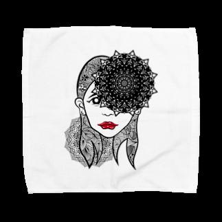 アトリエリトスのセンノカオ Towel handkerchiefs