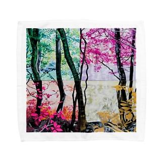 4つの景色 Towel handkerchiefs