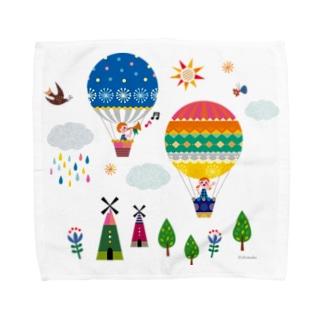 気球にのって Towel handkerchiefs