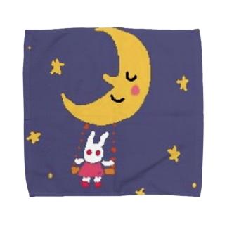 月さんうささん ブランコ Towel handkerchiefs
