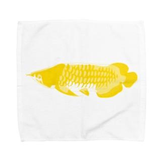 Go Go アロワナ Towel handkerchiefs