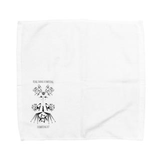 """ドレスを着た花の妖精""""りんさん"""" Towel handkerchiefs"""