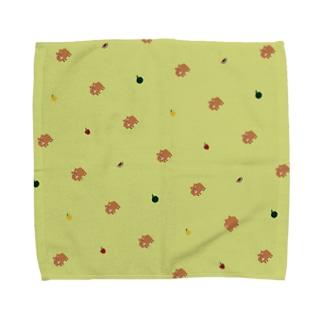 まりばらのハンカチ(緑) Towel handkerchiefs