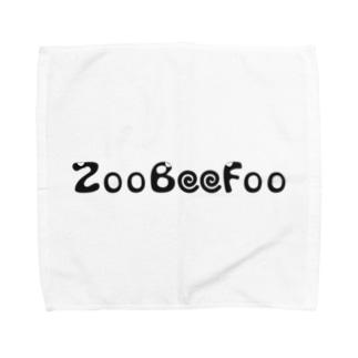 ZooBeeFoo黒ロゴ Towel handkerchiefs