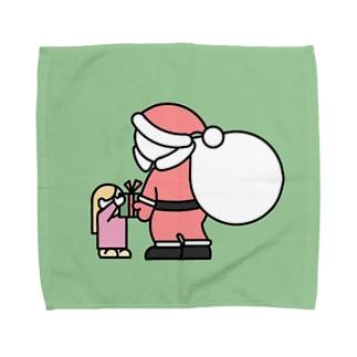 くれくれサンタさん Towel handkerchiefs