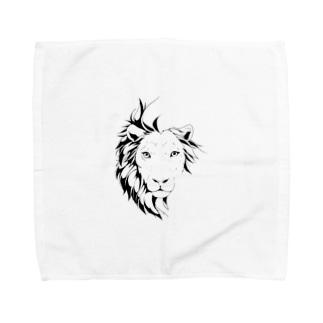 ブレない揺らぎ(モノクロver) Towel handkerchiefs
