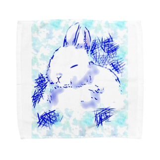 うさぎ~冬バージョン~ Towel handkerchiefs